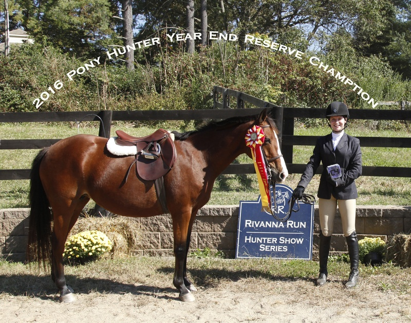 2016 Pony Hunter Reserve Champ