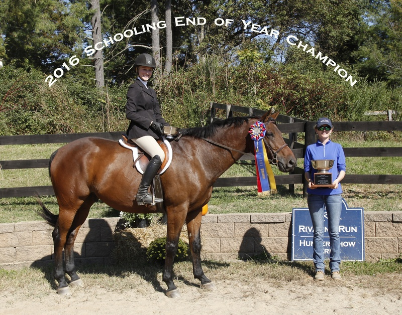 2016 Schooling Hunter champ